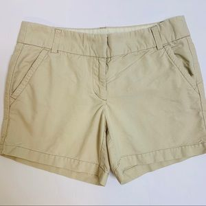 J.Crew Beige 5 Inch Chino Cotton Shorts size 4